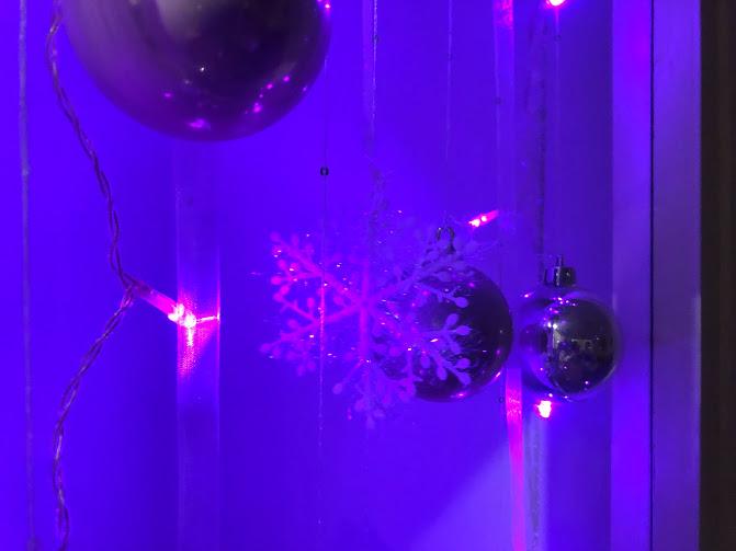 Enfeite de janela de Natal DIY