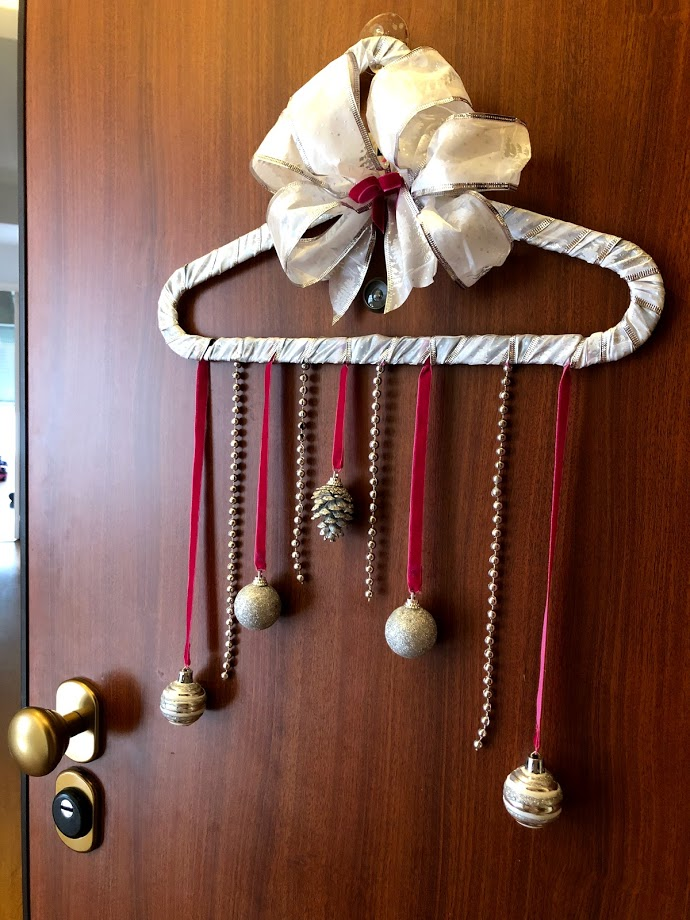 Enfeite de Porta Natal rosa DIY