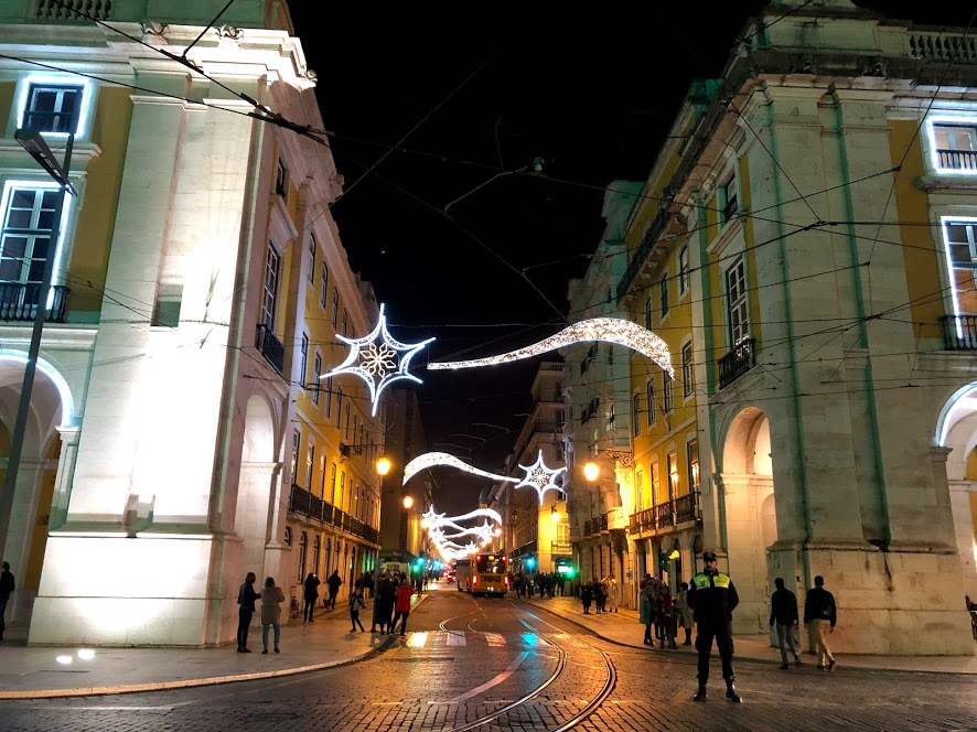 Luzes de Natal Lisboa Portugal