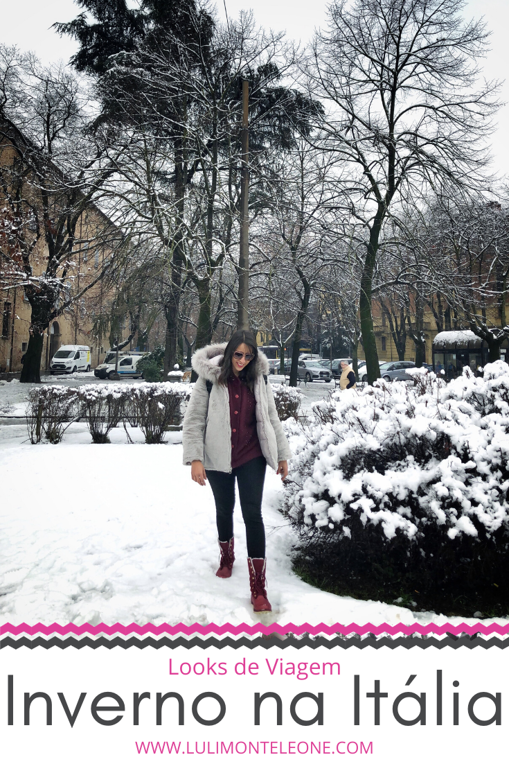 Look de viagem Inverno na Itália