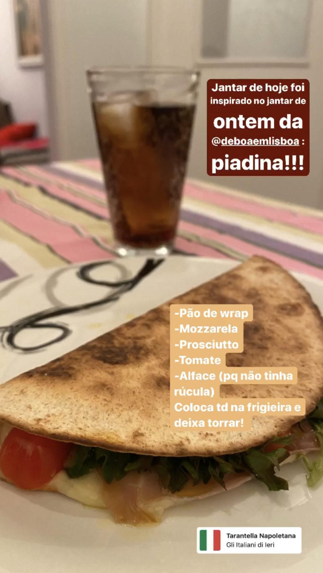 Piadina receita