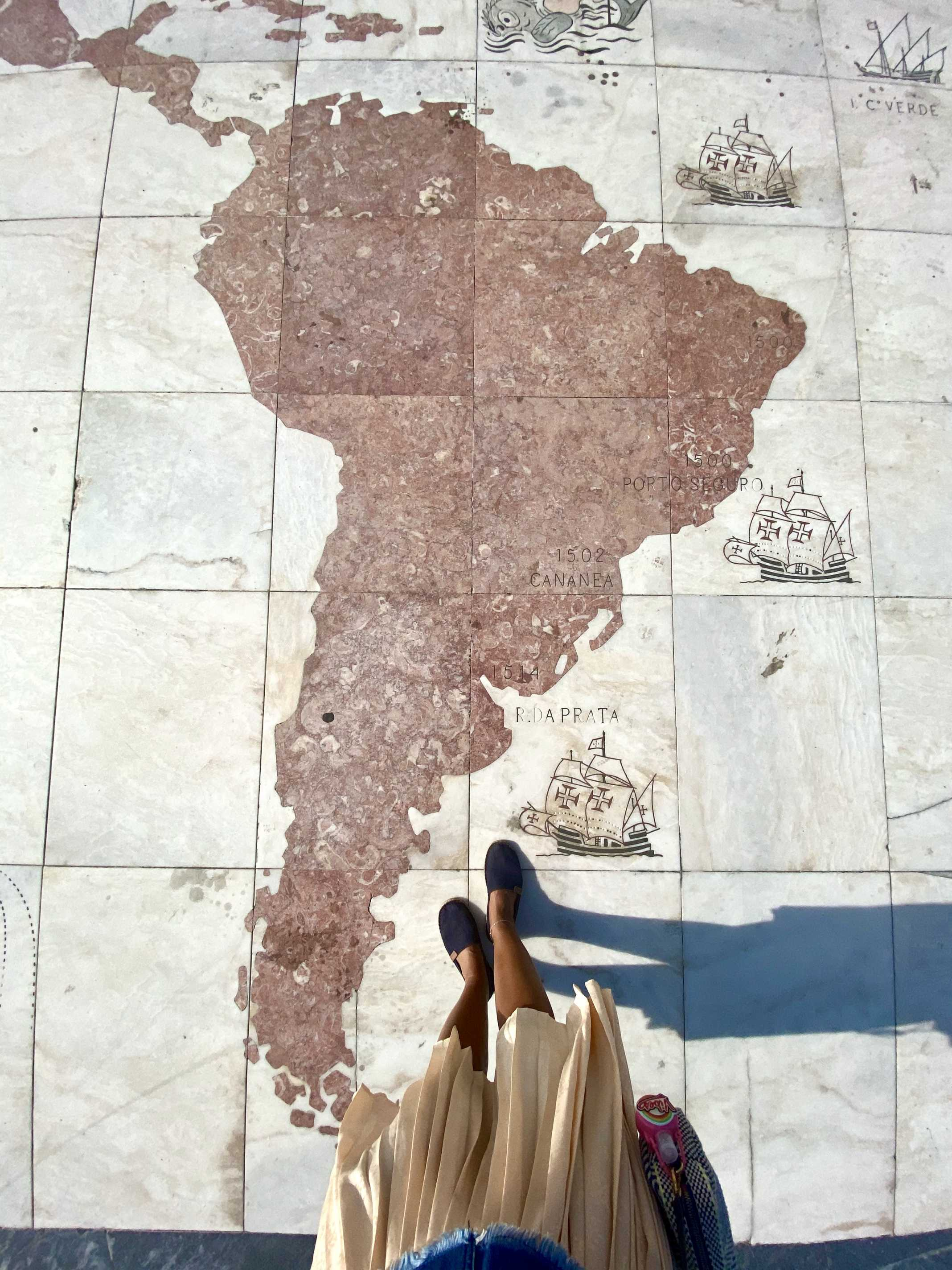Padrão dos Descobrimentos mapa brasil