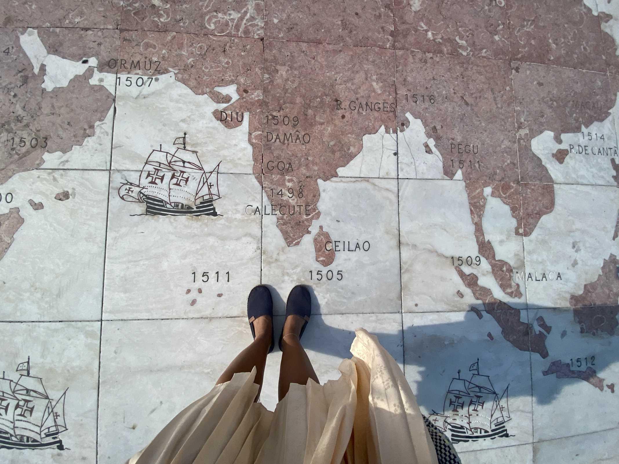 Padrão dos Descobrimentos mapa navegações