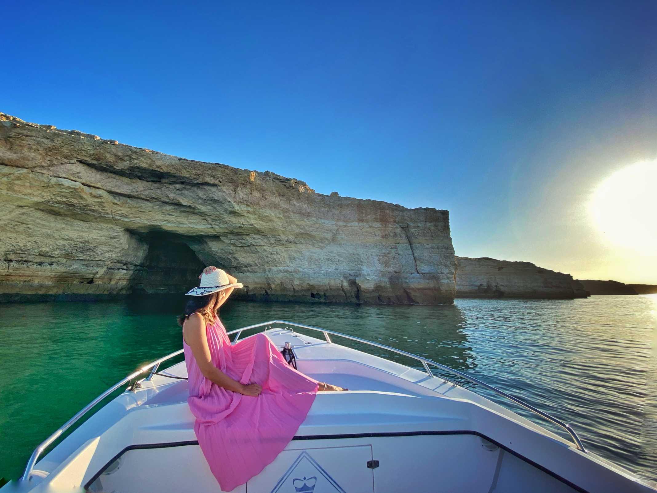 Passeio de Barco grutas Benagil Algarve