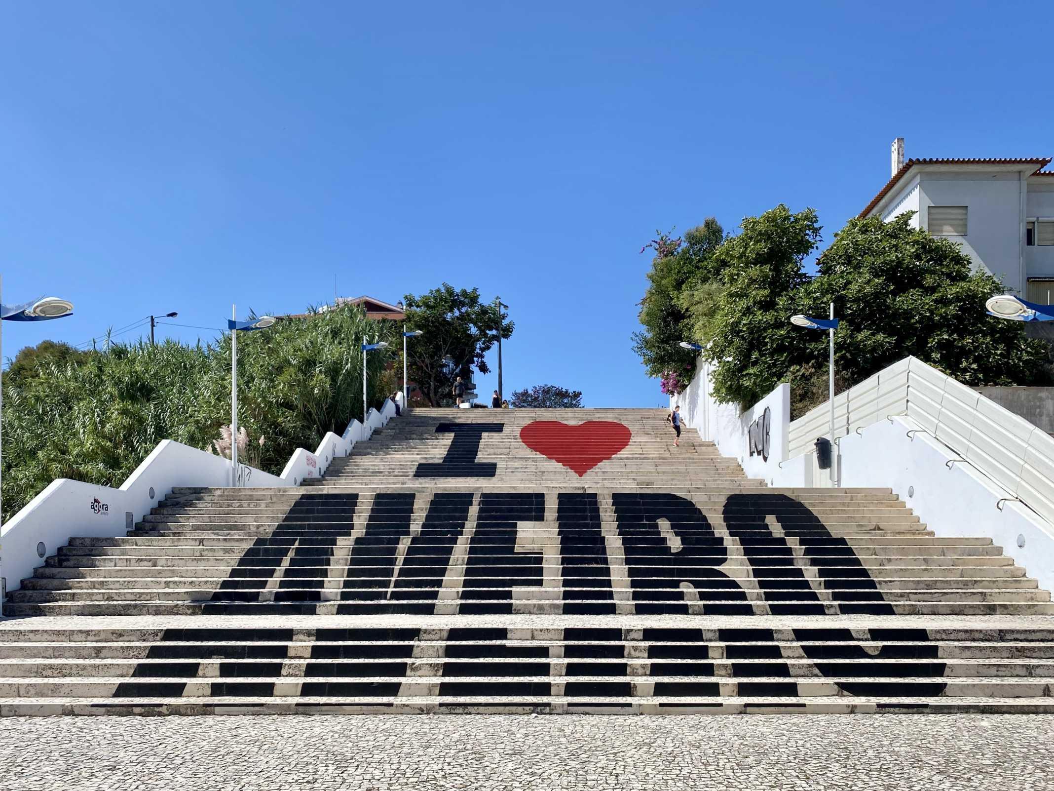 escadaria I love Aveiro