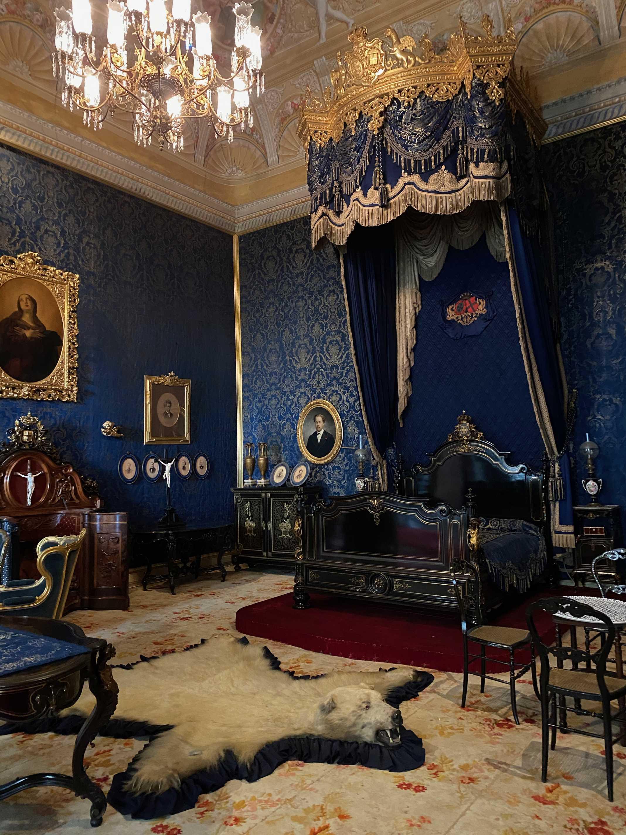 quarto da rainha palacio da ajuda